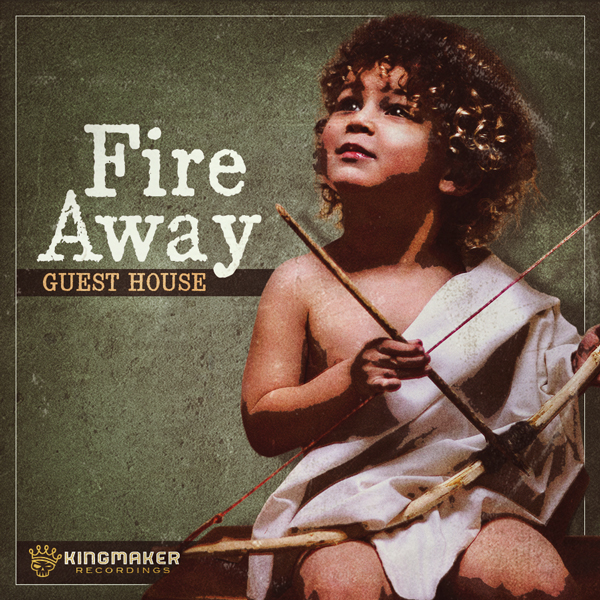 Album art for the POP album FIRE AWAY by GUESTHOUSE.