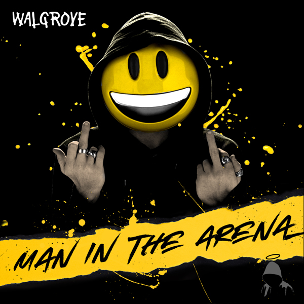 Album art for the POP album MAN IN THE ARENA by WALGROVE.