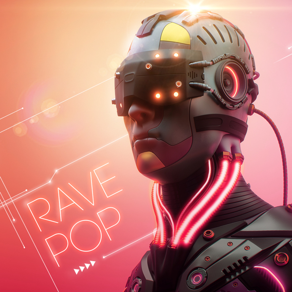 Album art for the POP album RAVE POP.