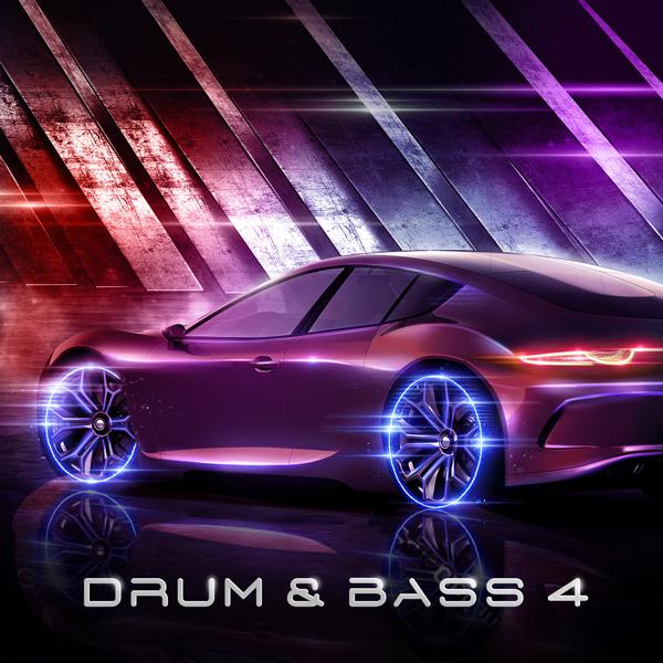 Album art for the EDM album DRUM & BASS 4.