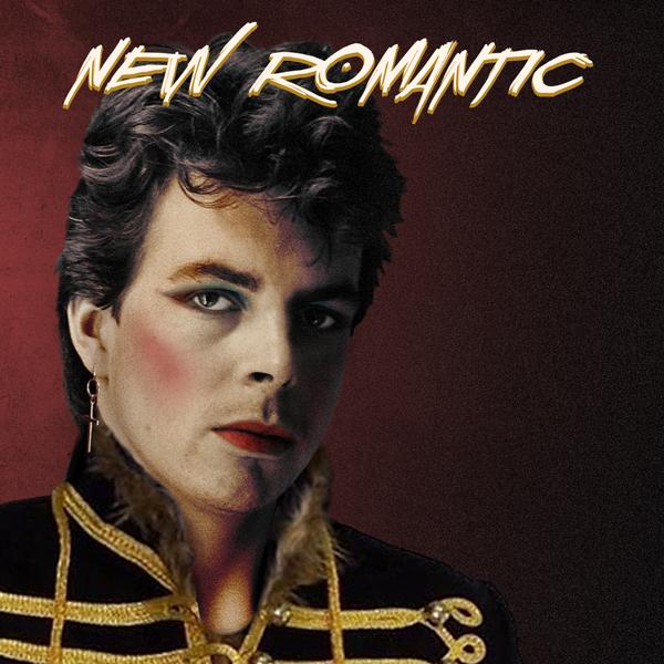 Album art for the ROCK album NEW ROMANTIC.