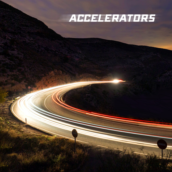 Album art for the SCORE album ACCELERATORS.