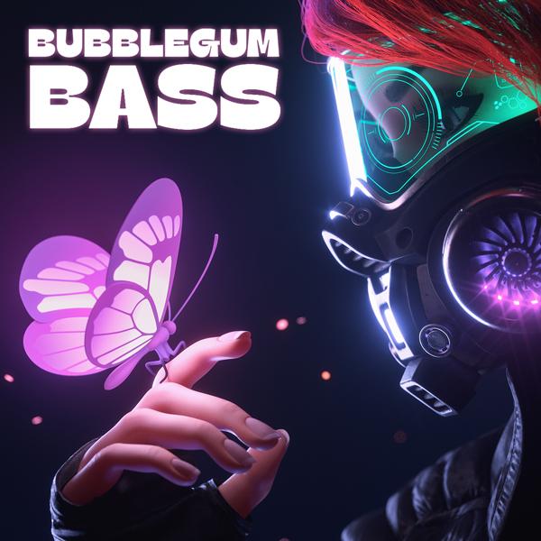 Album art for the POP album BUBBLEGUM BASS.