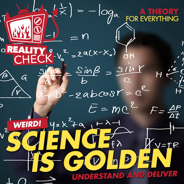 Album art for the REALITY album SCIENCE IS GOLDEN.