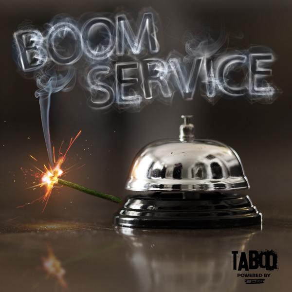 Album art for the SOUND DESIGN album BOOM SERVICE.