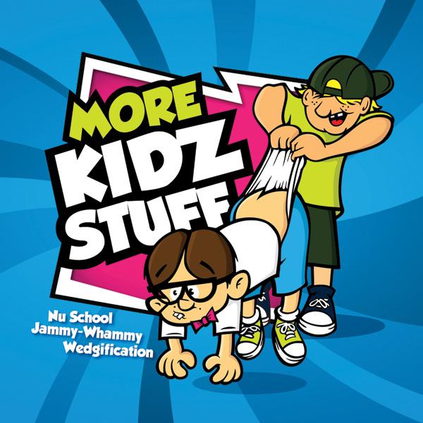 Album art for the KIDS album MORE KIDZ STUFF.