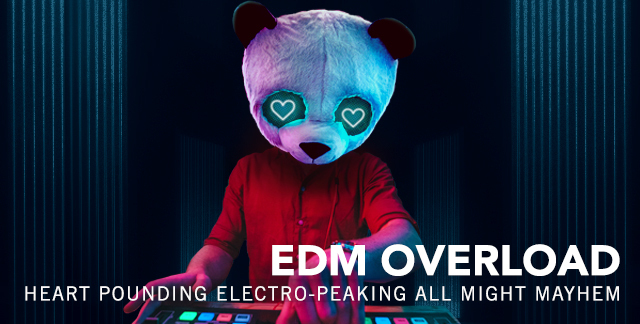 Art for EDM OVERLOAD : HEART POUNDING ELECTRO-PEAKING ALL NIGHT MAYHEM.