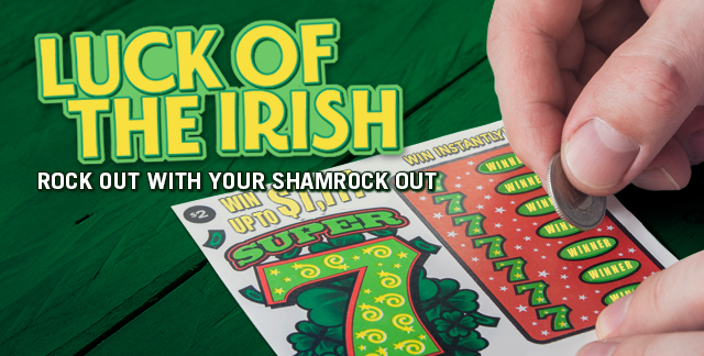 Art for LUCK OF THE IRISH : ROCK OUT WITH YOUR SHAMROCK OUT.