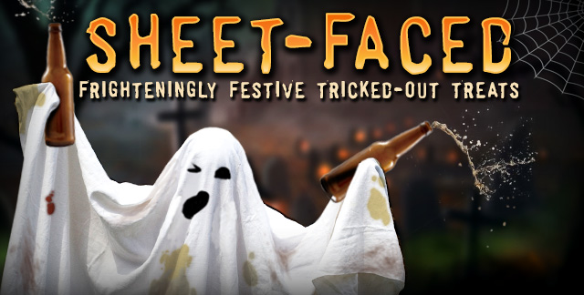 Art for SHEET - FACED : FRIGHTENINGLY FESTIVE TRICKED-OUT TREATS.