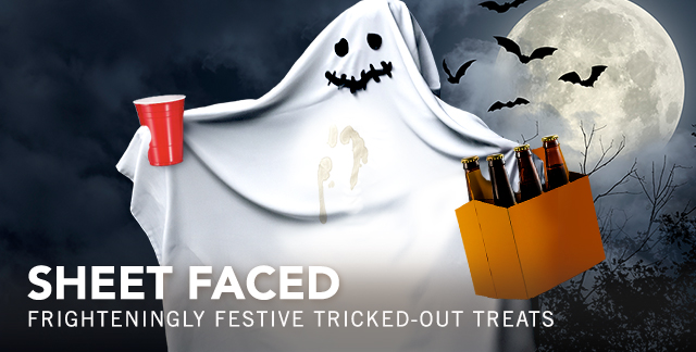 Art for SHEET FACED : FRIGHTENINGLY FESTIVE TRICKED-OUT TREATS.
