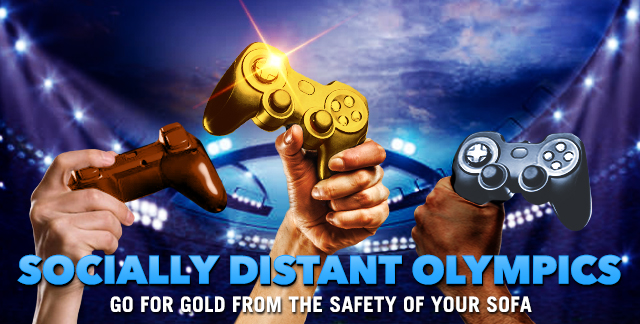 Art for SOCIALLY DISTANT OLYMPICS : GO FOR GOLD FROM THE SAFETY OF YOUR SOFA.