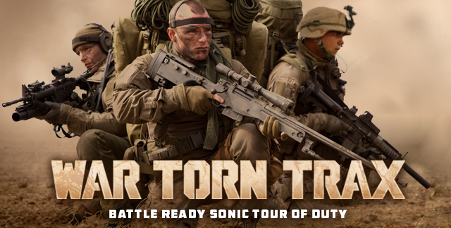 Art for WAR TORN TRAX : BATTLE READY SONIC TOUR OF DUTY.